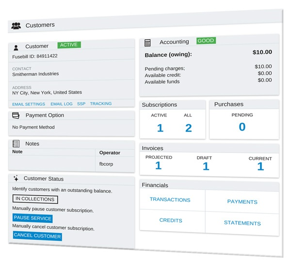 Customer-Dashboard-Recurring-Billing