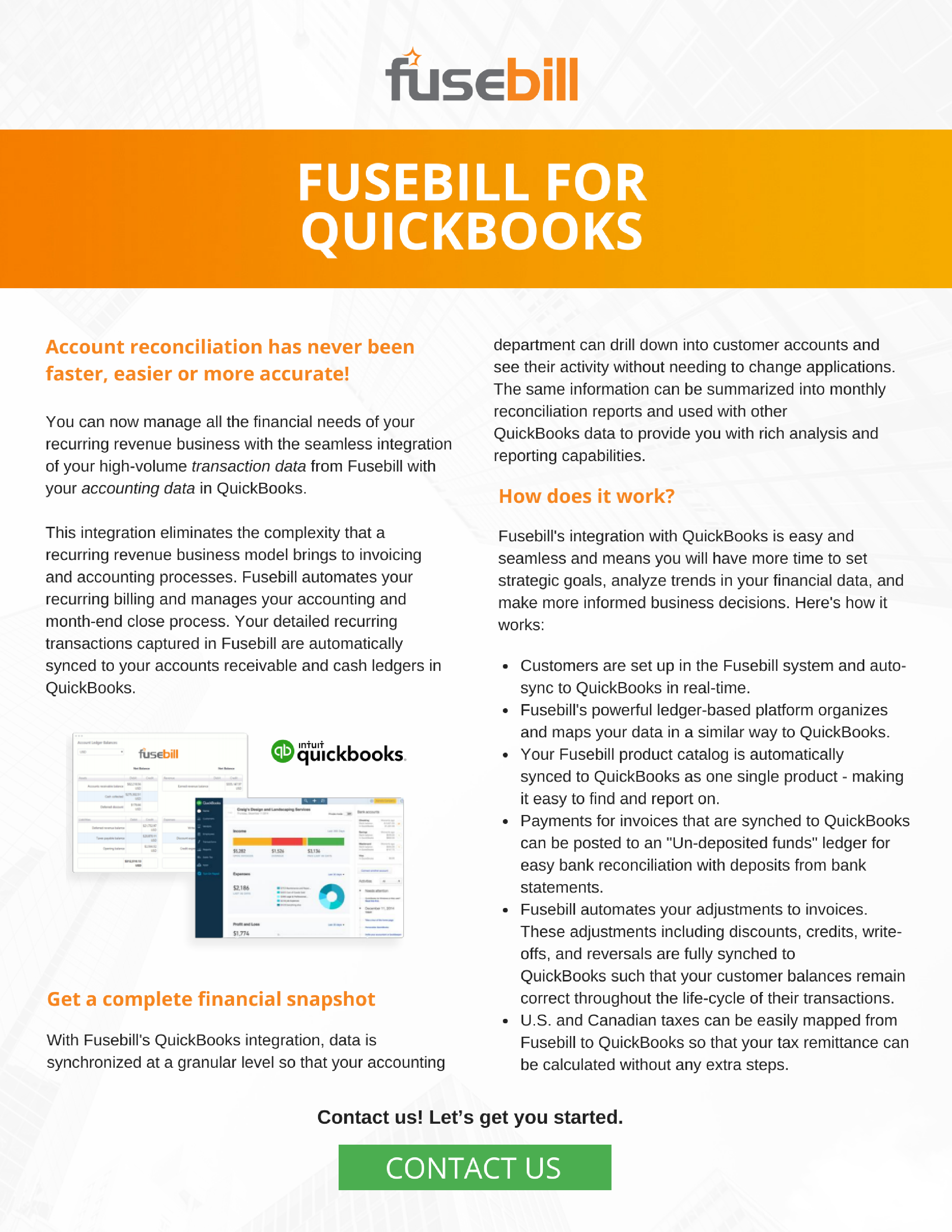 QuickBooks Integration with Automated Billing Platform Fusebill